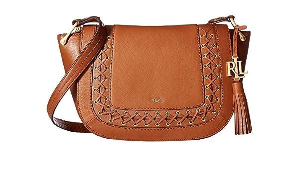 ae26714495 Amazon.com  LAUREN Ralph Lauren Ashfield Amari Saddle Bag Field Brown  Handbags  Everything Else
