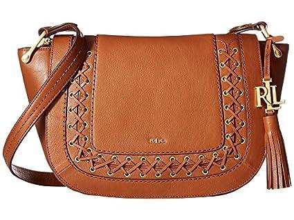71cec5a151e1 ... free shipping lauren ralph lauren ashfield amari saddle bag field brown  handbags 770e4 c3f6f