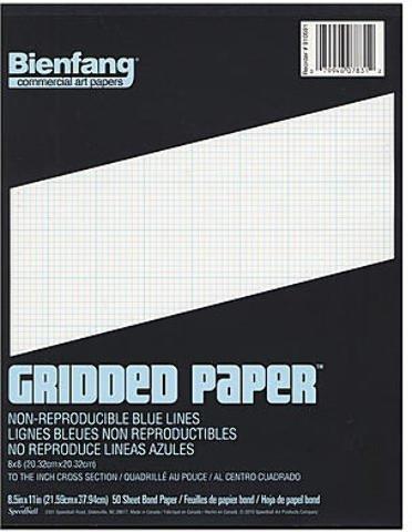 Bienfang Gridded Paper (8 x 8) - 8 1/2 In. x 11 In. 2 pcs sku# 1827292MA