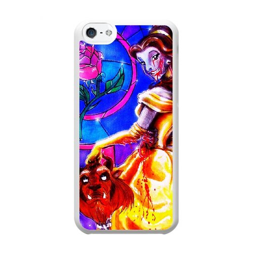 Coque,Coque iphone 5C Case Coque, Beauty And The Beast Paintings Cover For Coque iphone 5C Cell Phone Case Cover blanc