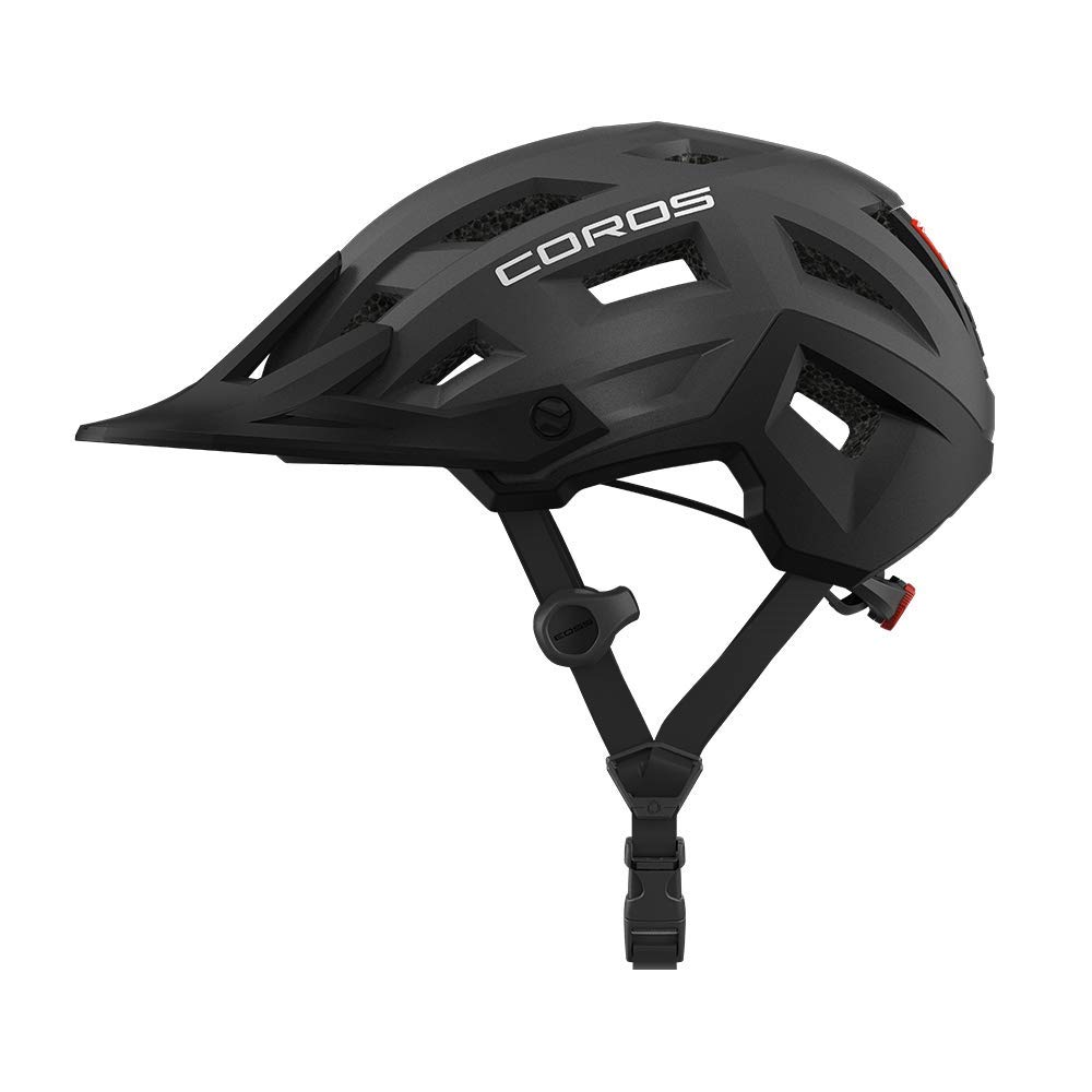 Coros SafeSound – Mountain Smart Cycling Helmet with Ear Opening Sound System,SOS Emergency Alert,LED Tail Light Bluetooth Connection for Music and Phone Calls Smart Remote Lightweight