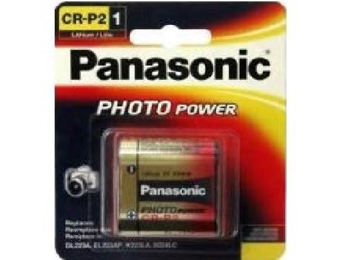 25 x Panasonic CR-P2 (223A) 6 Volt Lithium Batteries (On a Card) by Panasonic