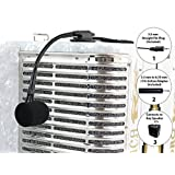 D'Luca Accordion Wired Microphone with 9 Feet Cable and Active Adapter