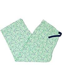 Womens Printed Cotton Knit Cropped Pajama Pants