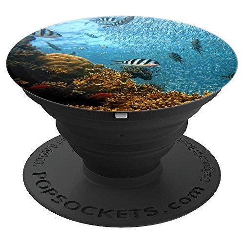 - Coral Reef & Tropical Fish Underwater - PopSockets Grip and Stand for Phones and Tablets