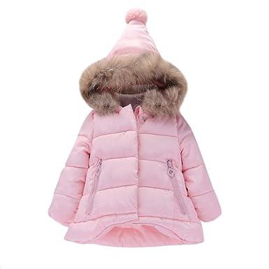 f3a4cb9a5 Amazon.com  Baby Padded Coat-Han Shi Girls Kids Jacket Coat Zipper ...