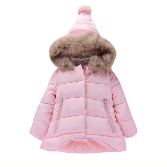 685247bfc735 Amazon.com  Kehen Kids Toddler Girl Winter Hooded Trench Coat Cloak ...