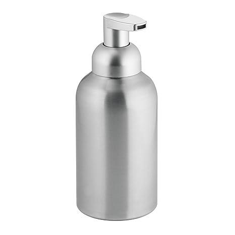 InterDesign Metro Dispensador de Espuma de jabón, dosificador de jabón líquido de tamaño Grande de