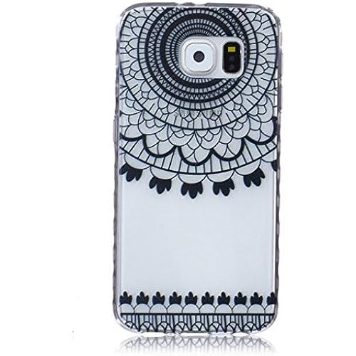 For Samsung Galaxy S7 Case / 5.1 SM-G930F, ANGELLA-M Soft Flexible - Black Lace Dreamcatcher Ultra-thin Silicone TPU Bumper Protective Cover Case Sales