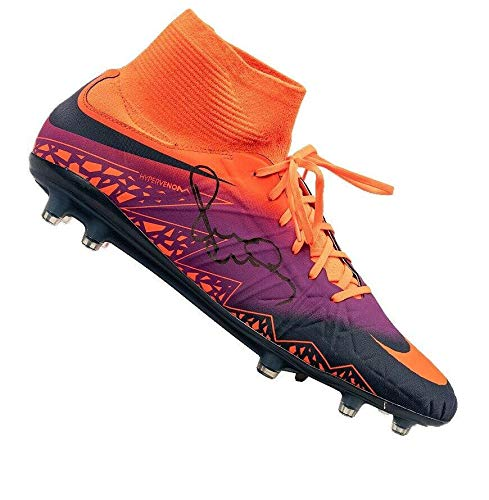 5bd8af3acca Paul Scholes Signed Football Boot - Nike High Top Purple Orange Autograph - Autographed  Soccer Cleats
