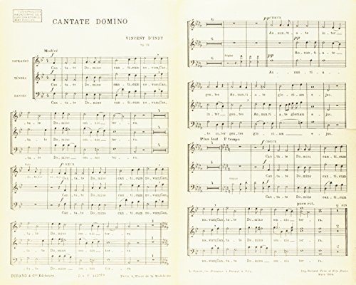 Cantate Domino Choeurs  Chant