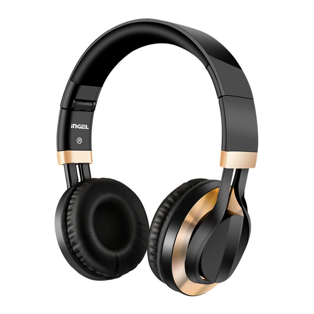 Sonmer Foldable Over Ear Stereo Wired Headphone With Soft Earmuffs (Gold)