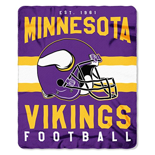 NFL Minnesota Vikings Singular 50-inch by 60-inch Printed Fleece Throw (Minnesota Vikings Bedding)