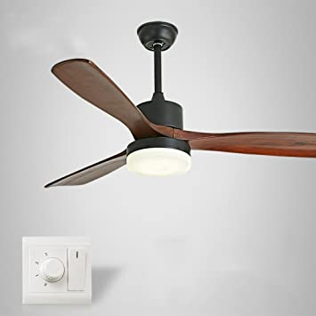 Liuyu · Luces de ventilador de techo de madera maciza ...
