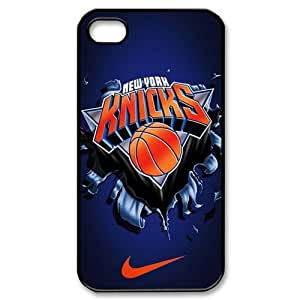 NBA Team 4 New York Knicks Print Black Case With Hard Shell Cover for Apple iPhone 4/4S