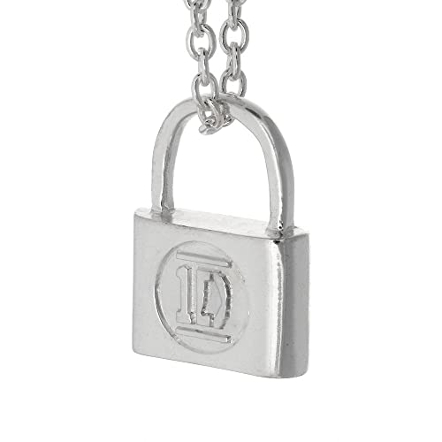 oversized necklace silver padlock chanel gold cc
