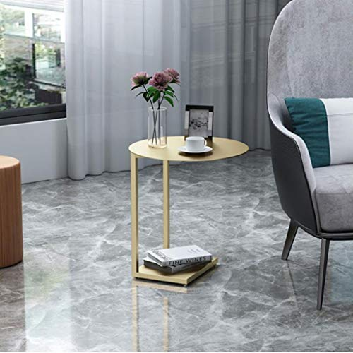 - T-Day End Tables Bedside Table Side Table End Table Sofa Side/Coffee/Storage Trolly Table for Home,Living Room,Office,262560 cm (Color : Gold)