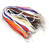 Dealglad 100pcsCandy Colorful Voile String RibbonOrganzaNecklace Cords Chain