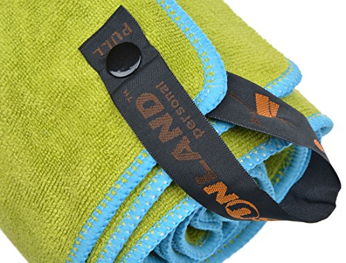 Sinland Ultra Absorbent Travel Towels Fast Drying Microfiber Sports Towel Bath Gym Towels (chartreuse 32inchx60inch)