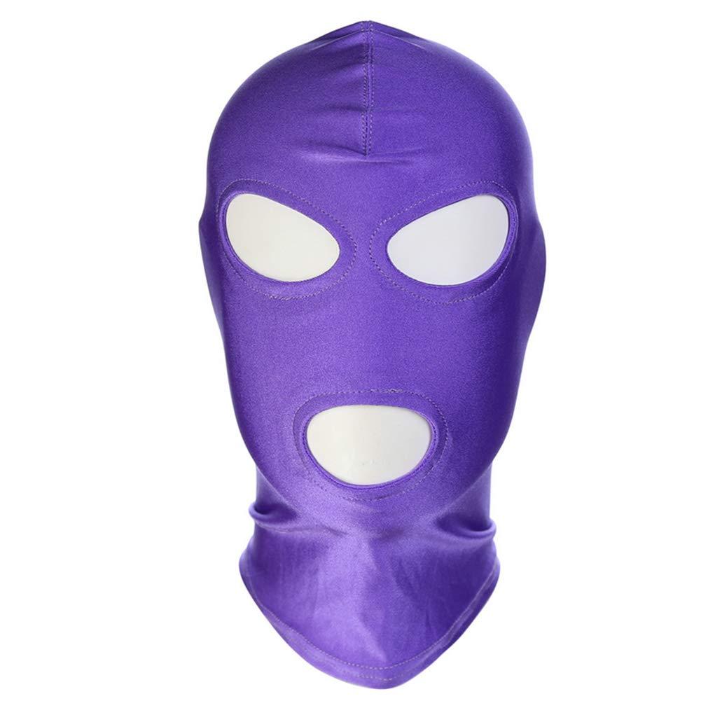 Boca Abierta, Capucha Ocular, Máscara, Juego de Roles, Máscara, Ocular, Sombrero erótico, Productos para Adultos,purple3,3packs dfb8d1