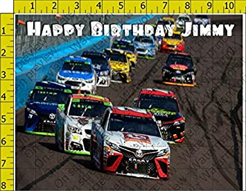 Nascar Racing Track Personalized Birthday Edible Frosting