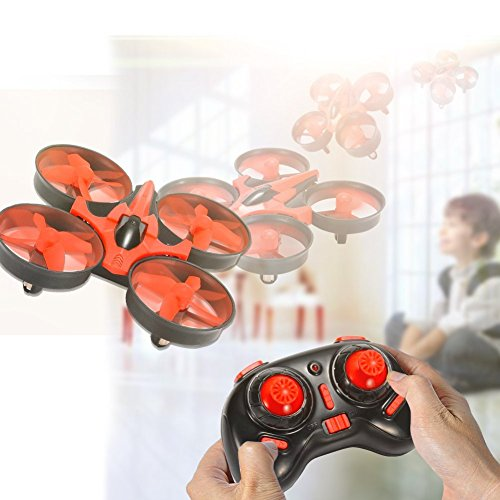 Leoie NIHUI NH010 Mini Drone 2.4G 6-Axis Gyro Headless Mode Remote Control Quadcopter (Red)