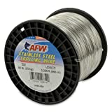 American Fishing Wire Stainless Steel Trolling Wire, 50-Pound Test/0.61mm Dia/982m For Sale