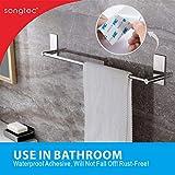 Songtec Bathroom Towel Bar 16-inch, No Drill