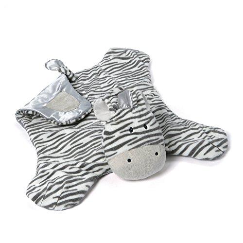 Baby Gund Satin Blankets (Gund Baby Zeebs Zebra Blanket, Comfy Cozy)