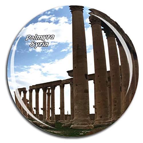 Collection Palmyra (Palmyra Syria Asia Fridge Magnet 3D Crystal Glass Tourist City Travel Souvenir Collection Gift Strong Refrigerator Sticker)