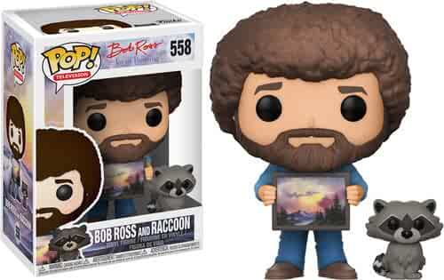 Funko POP! TV: Bob Ross - Bob Ross with Raccoon (Styles May Vary) Collectible Figure