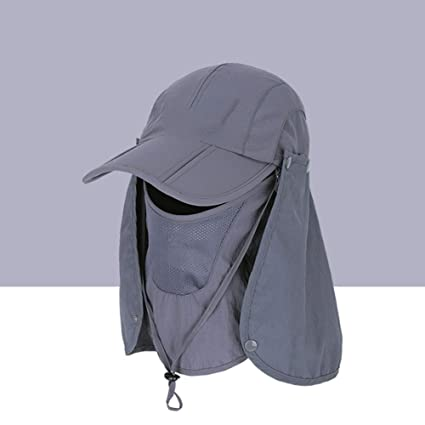 360° UV Protection Women Detachable Beach Sun Hat Travel Men Fishing C Style