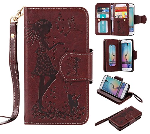 Galaxy S6 Case, CUSKING Wallet Leather Back Case with, used for sale  Delivered anywhere in Canada