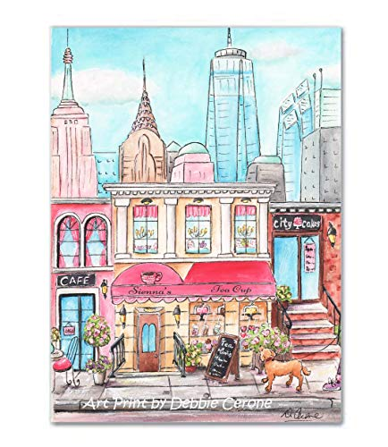 (New York City Thick Wrap Canvas Wall Art, Personalized With Girl's Name - 5 sizes - 8x10 to 24x36