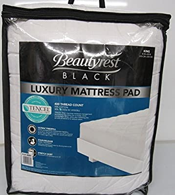 Beautyrest Black Luxury Mattress Pad, KING
