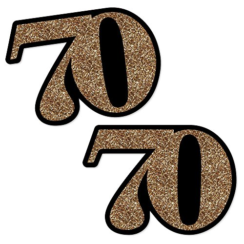 [Adult 70th Birthday - Gold - Decorations DIY Party Essentials - Set of 20] (Decoration Ideas Party)