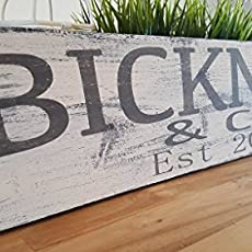 Last Name Sign Farmhouse Wood Sign Personalized Wood Sign Dining Room Sign  Kitchen.