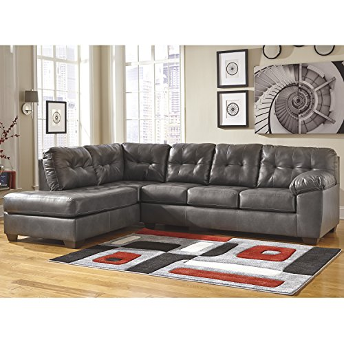 Left Chaise Sectional - Signature Design by Ashley Alliston Sectional with Left Side Facing Chaise in Gray DuraBlend