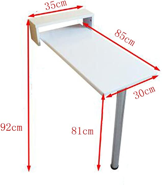 ZR-Mesa de pared Mesa de comedor blanca Mesa de comedor plegable ...