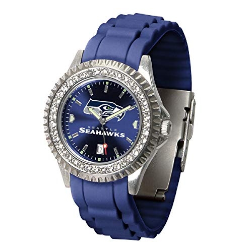 Game Time NFL Seattle Seahawks Womens SparkleWrist Watch, Team Color, One Size (Nfl Stainless Steel Wrist Watch)