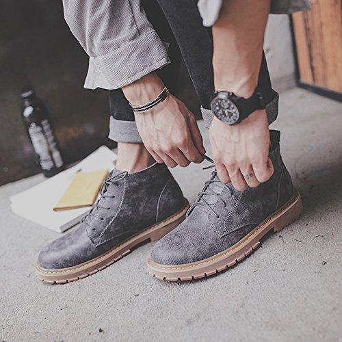 HL-PYL - Retro Schuhe Stiefel Stiefel Stiefel Stiefel Stiefel Stiefel Stiefel und Ma Dingxue 42 Grau a1adc5
