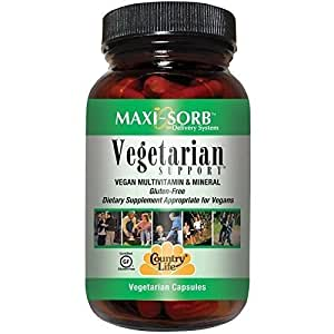 Country Life Vegetarian Support, 120-Count