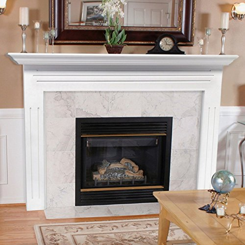 Fireplace Surrounds Mantels (Pearl Mantels 510-48 Newport 48-Inch Fireplace Mantel Surround with Medium Density Fiberboard,)