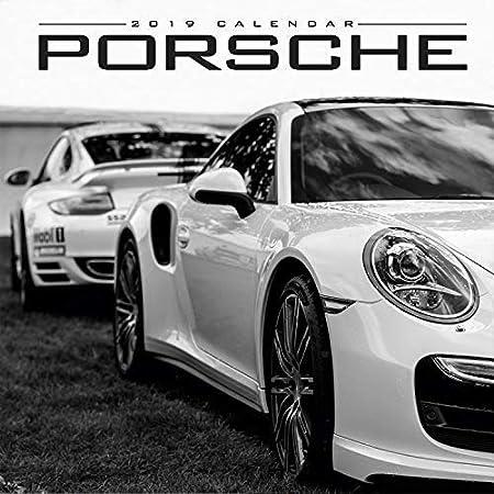 Calendario de Porsche, calendario de supercoche, calendario de coche, calendario de pared mensual: MegaCalendars: Amazon.es: Oficina y papelería