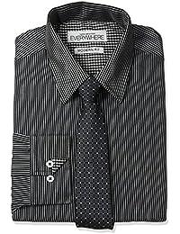 "<span class=""a-offscreen"">[Sponsored]</span>Everywhere Men's Stripe Dress Shirt with Tie"