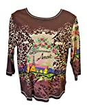 Women's Ash & Sara French Amour Cotton Top Large