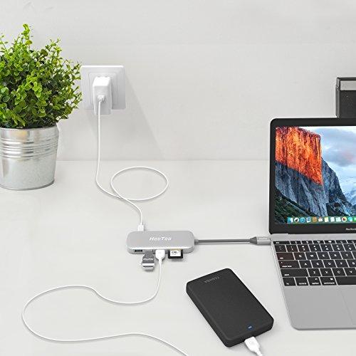 USB C Hub, HooToo USB C Adapter 3.1 with Type C Charging ...