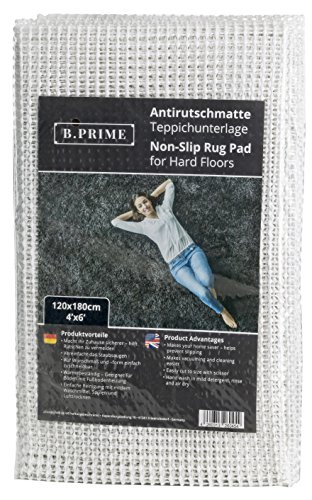 (B.PRIME 4x6-Feet Non-Slip Rug Underlay Pad for Hard Floors. Different Size Options Available )