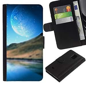 All Phone Most Case / Oferta Especial Cáscara Funda de cuero Monedero Cubierta de proteccion Caso / Wallet Case for Samsung Galaxy S5 Mini, SM-G800 // Abstract Planet Landscape