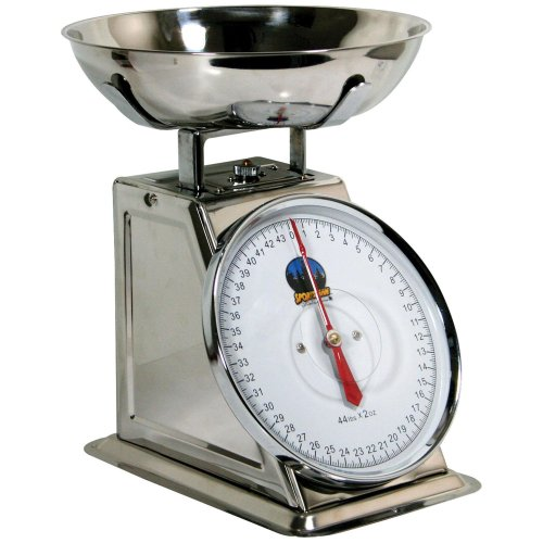 Scale Sportsman (Sportsman Series Kitchen Baking Food Preparation 44 Lb Stainless Steel Dial Scale Measuring Tool)